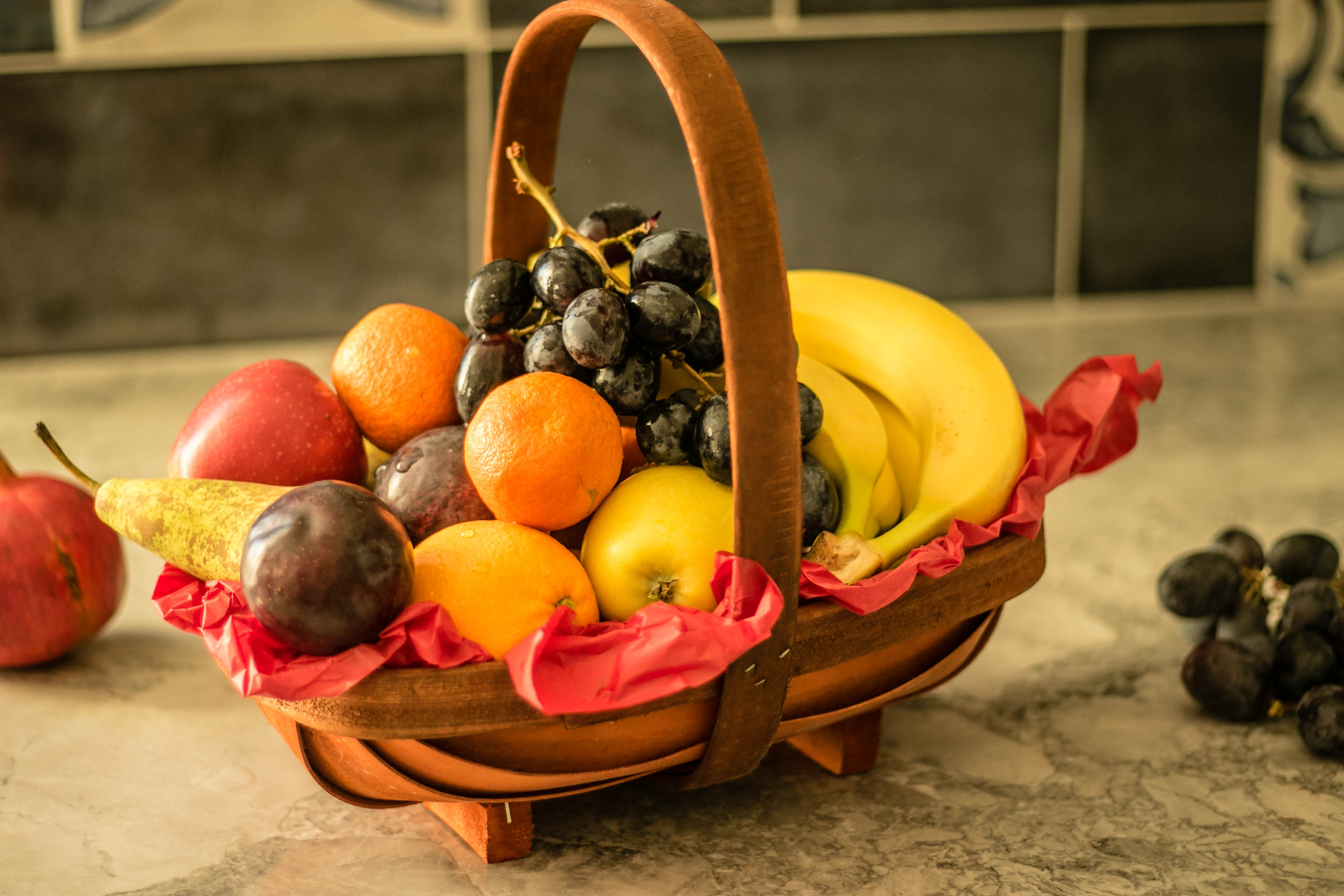 Gifts, flowers, fruit basket